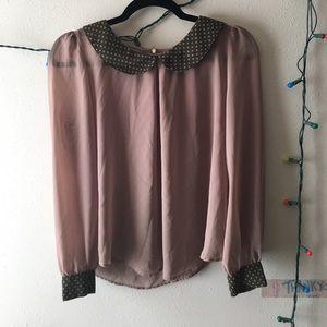 Sheer Collared Shirt