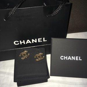 Brand New Chanel CC Stud Earrings