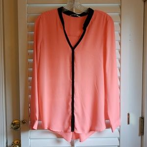 BB Dakota neon pink blouse