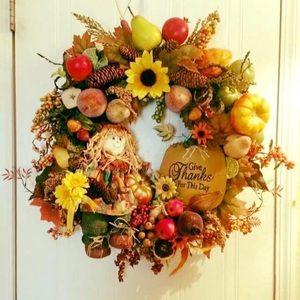 Large Fall Harvest Wreath