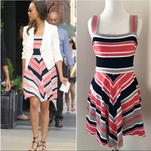 Banana Republic Striped & Fit Dress