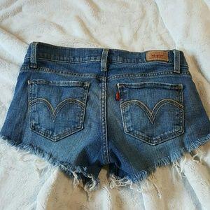 Levi's Too Super low Cutoff Jean Shorts