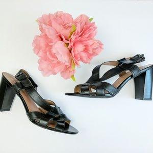 FRANCO SARTO • ethan black strappy heels