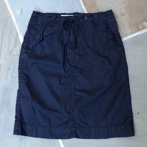 J.Crew navy cargo skirt