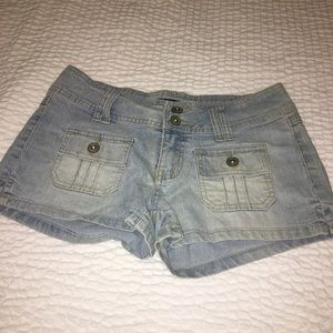 Light blue hot shorts