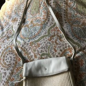 Kate spade crossbody with woven bottom