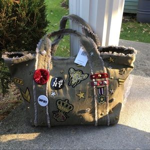 Stylish Military-Chic Canvas Tote
