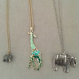 J.Crew Elephant Necklace (plus two other)