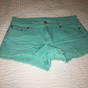 Sea-green shorts