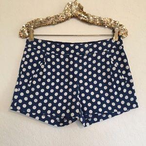 J.Crew Polka Chino Dot Shorts