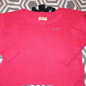 NWOT Hollister Cropped Pink Sweater