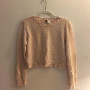 Pale Pink H&M Crop Sweater