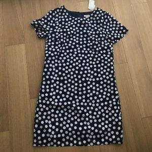Jcrew polka dot t-shirt dress.