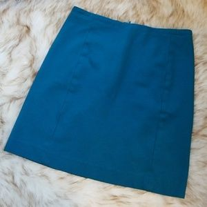 Ann Taylor teal skirt