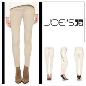 Brand New Joes Jeans Icon Beige Leather Pants