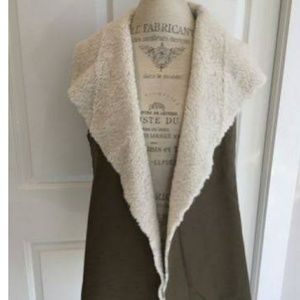 Madison & Lola faux shearling vest