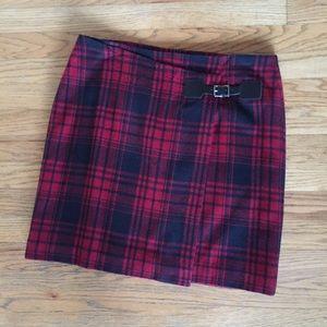 Vintage Elliott Lauren Red and Black Plaid Skirt