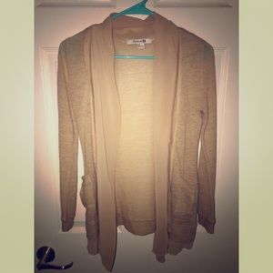 Forever 21 cardigan with sheer chiffon section