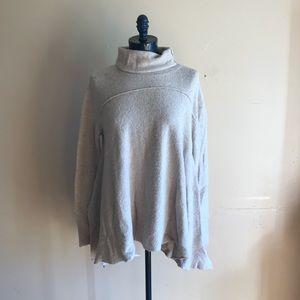 Free People Asymmetric Hem Tunic Sweater