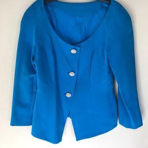 Jackets & Blazers - Stunning Silk Blazer Rhinestone Buttons