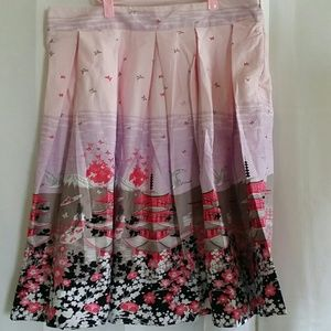 NWOT Japanese print A line skirt