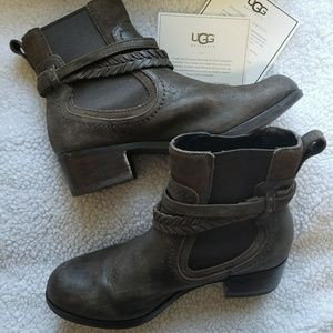 Ugg brown ankle boots