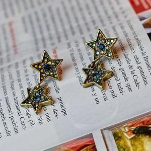 NWOT Rustic Star Earrings
