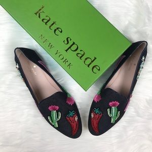 Kate Spade New York Saville Indigo Denim Flats.