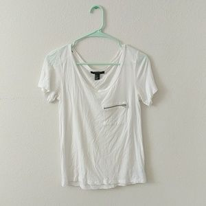 Forever21 Zip Pocket Tee