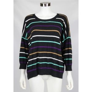 Wallace Madewell Multicolor Striped Sweater Large