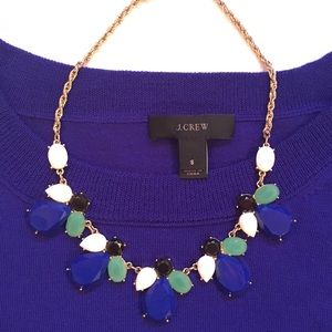 Perry Street Statement Necklace Blue, White & Gold