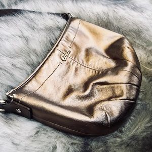 Coach Gold Leather Wristlet