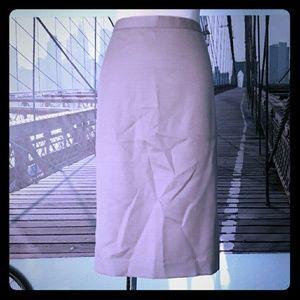 J. CREW classic beige pencil skirt, sz 6, EUC