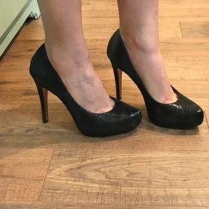 BCBGeneration Black Leather Heels sz 9
