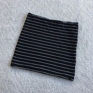 H&M Basic Striped Mini Skirt