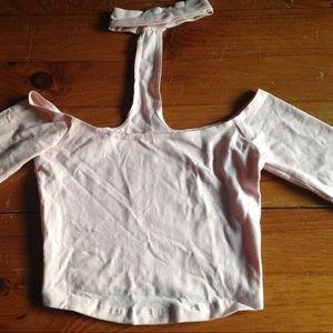 American apparel baby pink choker top