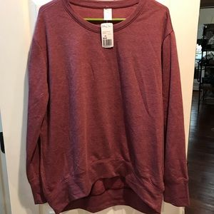 Maroon Slouch Sweater