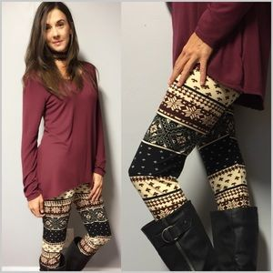 Raspberry Frost Print Leggings