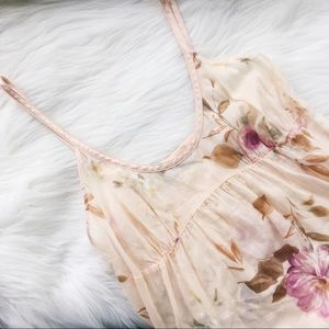 La Perla Joelle Sheer Floral Soft Pint Dress Sz 2