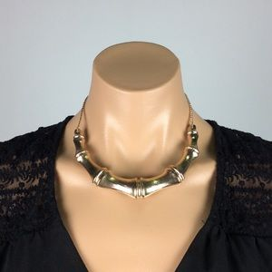 Fun Gold Bamboo Style Necklace