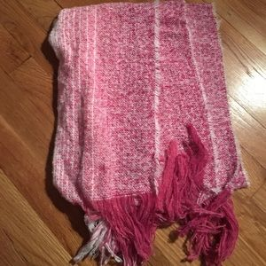 Pink and white scarf