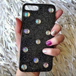 iPhone 7/8 Plus Luxe Jeweled Glitter Soft TPU Case