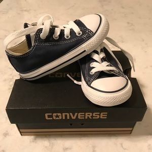 Converse navy blue sneakers size 7