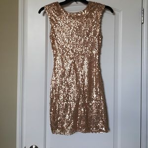 Gold/Rose Gold stretchy dress