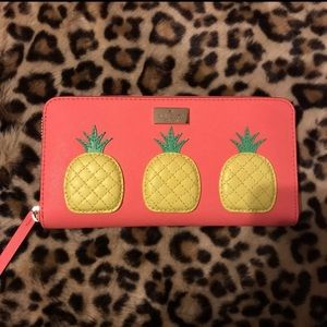 NWT Kate Spade coral pineapple Neda wallet