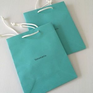 Tiffany & Co. Paper Shopping Bags (Set of Two)