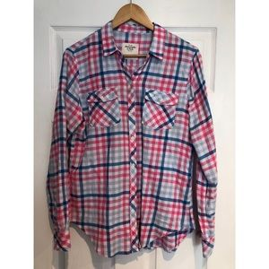 Abercrombie & fitch Plaid Top