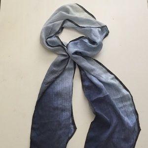 Blue/gray BR silk scarf