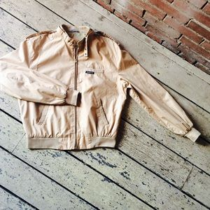 Vintage 80s Member's Only Khaki Jacket