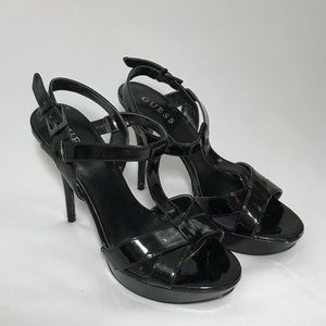 Guess Strappy Black Heels